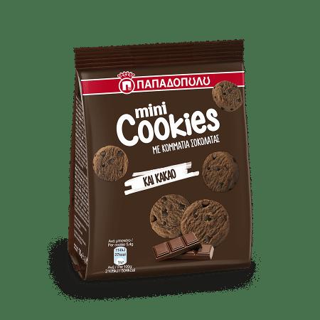 Product Image of Mini Cookies με κομμάτια σοκολάτας & κακάο