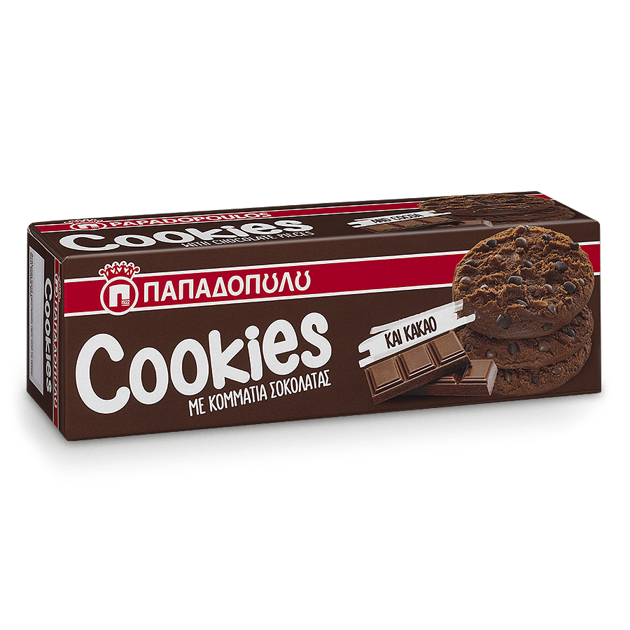 Image of Cookies with cocoa & chocolate pieces