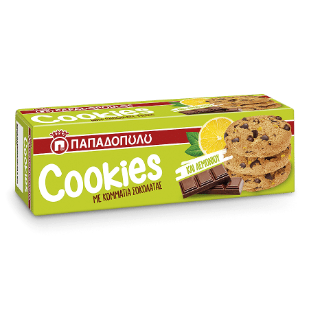 Product Image of Cookies με κομμάτια λεμονιού & σοκολάτας
