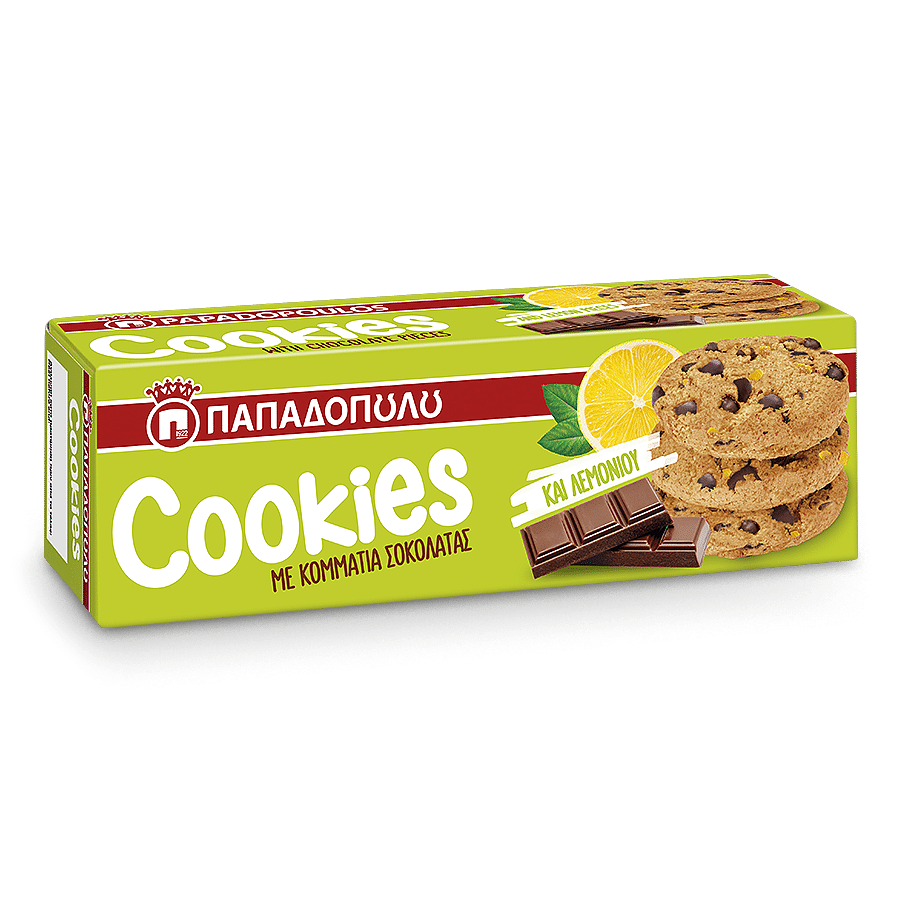 Image of Cookies with lemon & chocolate pieces