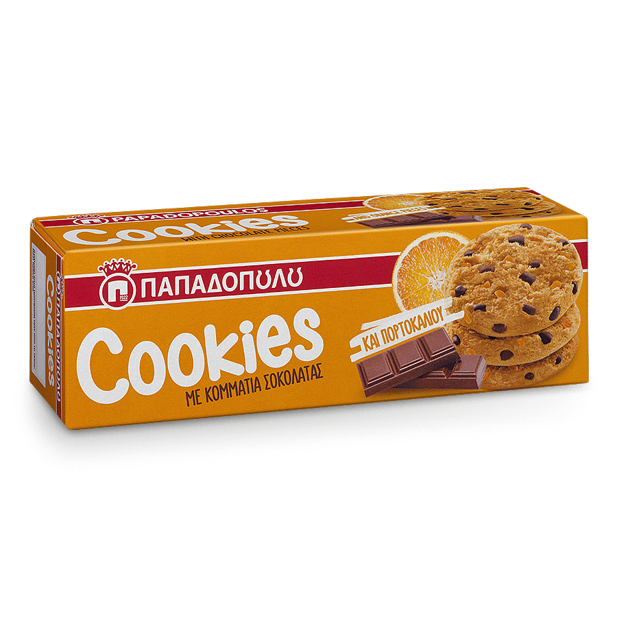 Image of Cookies with orange & chocolate pieces