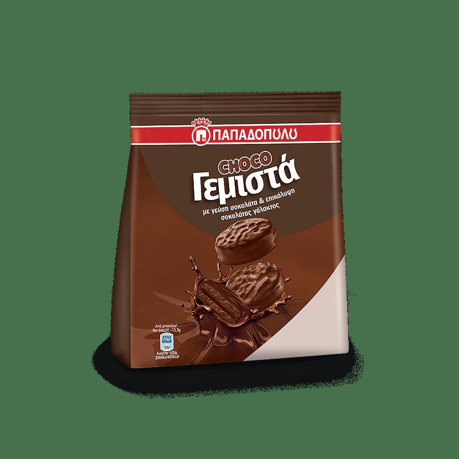 Image of ChocoΓεμιστά με γεύση σοκολάτα και επικάλυψη σοκολάτας γάλακτος