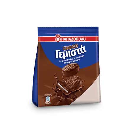 Product Image of Choco Sandwich biscuits with vanilla flavored cream
