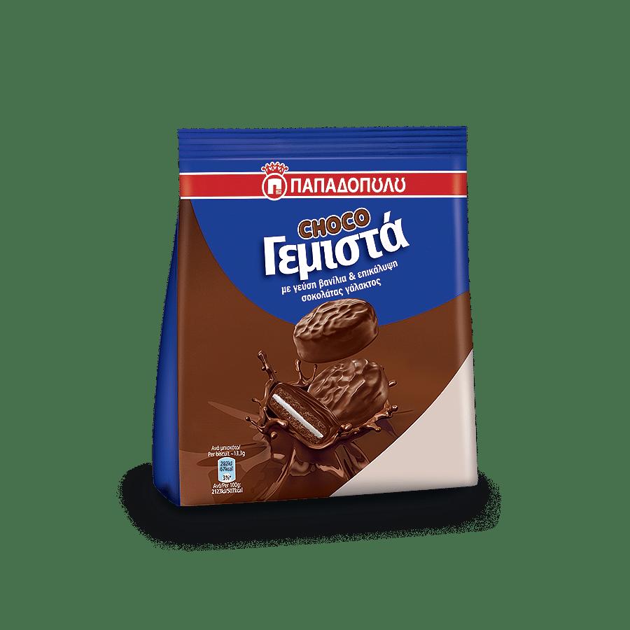 Image of ChocoΓεμιστά με γεύση βανίλια και επικάλυψη σοκολάτας γάλακτος