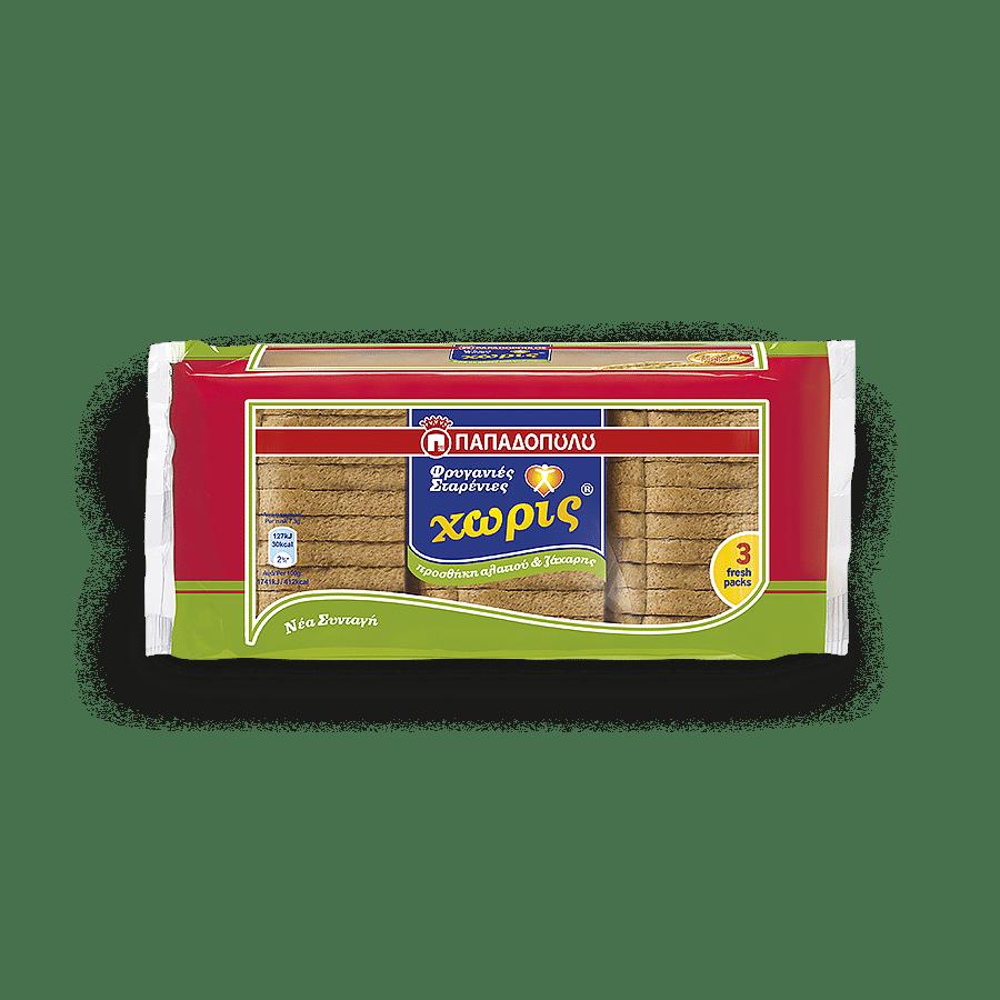 Image of Φρυγανιές Σταρένιες χωρίς προσθήκη αλατιού και ζάχαρης