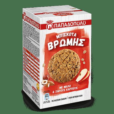Product Image of Μπισκότα Βρώμης με μήλο και ξηρούς καρπούς