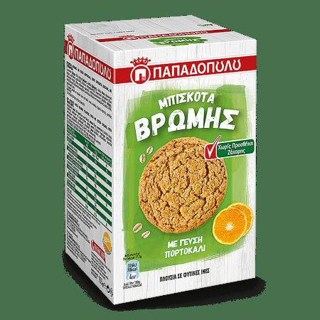 Product Image of Μπισκότα Βρώμης με γεύση πορτοκάλι χωρίς προσθήκη ζάχαρης
