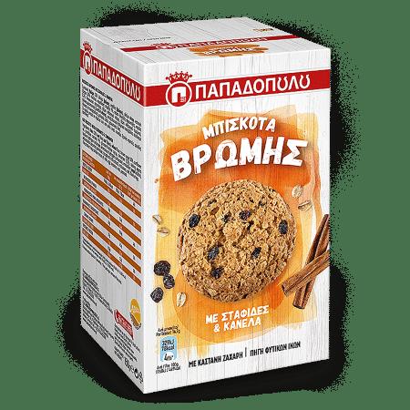 Product Image of Μπισκότα Βρώμης με σταφίδες και κανέλα