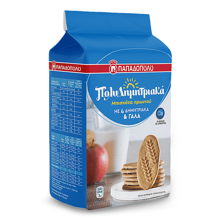 Product Image of ΠολυΔημητριακά Μπισκότα Πρωινού με 4 δημητριακά & γάλα