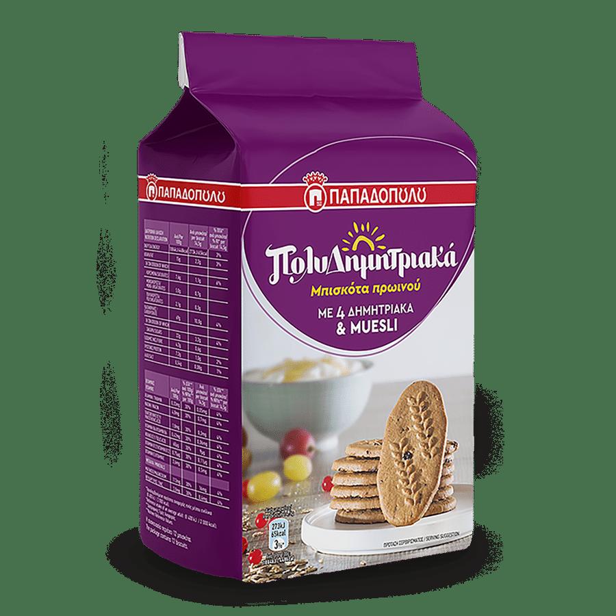 Product Image of ΠολυΔημητριακά Μπισκότα Πρωινού με 4 δημητριακά & muesli