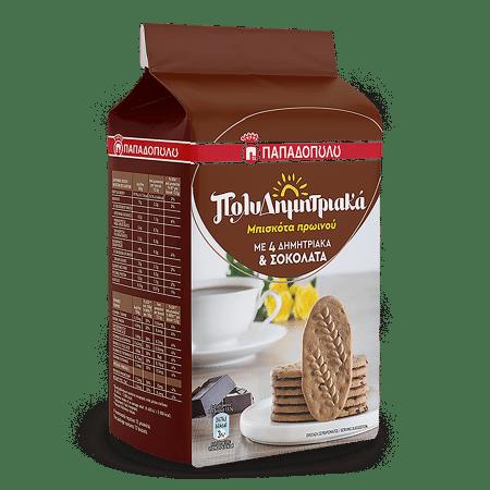Product Image of ΠολυΔημητριακά Μπισκότα Πρωινού με 4 δημητριακά & σοκολάτα