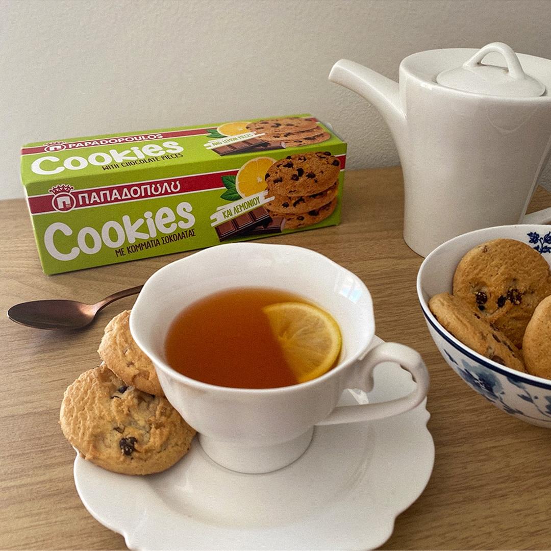 image for Tea time με μπισκότα Cookies λεμόνι! 