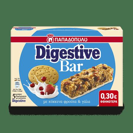 Product Image of Digestive Bar με κόκκινα φρούτα και επικάλυψη με γάλα