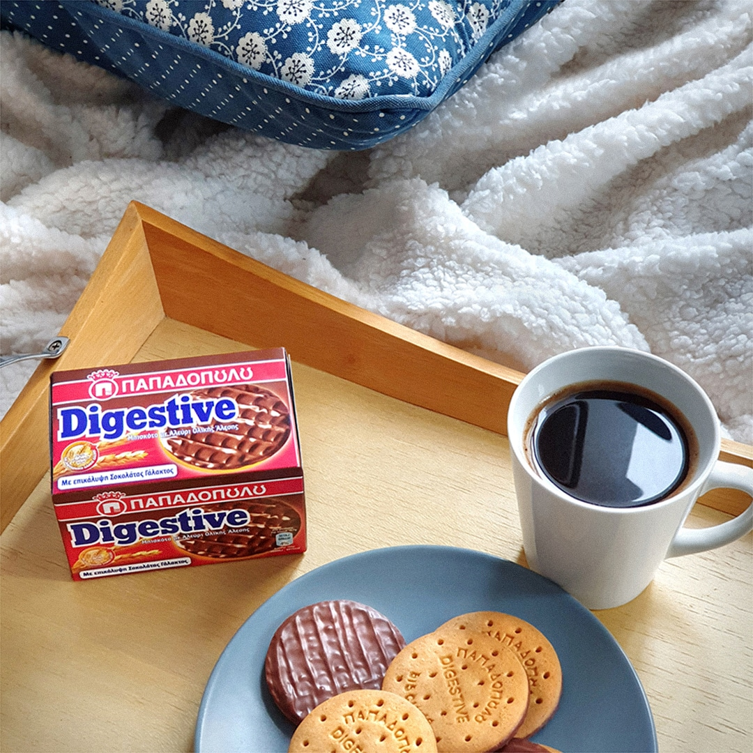 image for Digestive με σοκολάτα γάλακτος για μια χαλαρή χουχουλιάρικη Κυριακή!