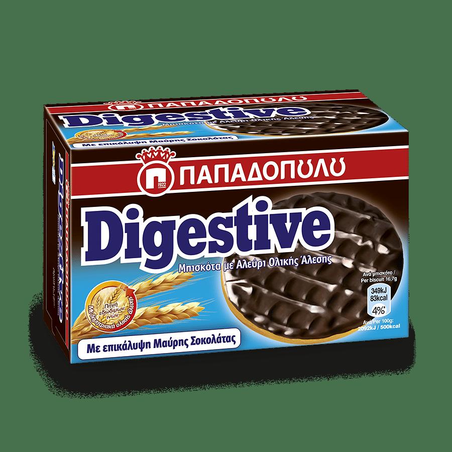 Image of Digestive με επικάλυψη μαύρης σοκολάτας