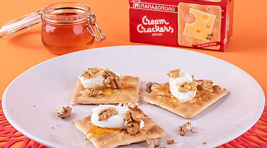Top slider image for Brunch στο σπίτι με Cream Crackers, μέλι, καρύδια και γιαούρτι
