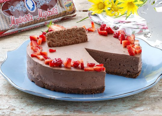 image for Cheesecake σοκολάτα με ΜΙΡΑΝΤΑ Παπαδοπούλου με κακάο & σοκολάτα