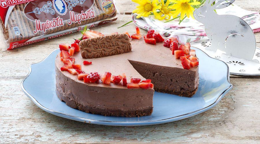 Top slider image for Cheesecake σοκολάτα με ΜΙΡΑΝΤΑ Παπαδοπούλου με κακάο & σοκολάτα