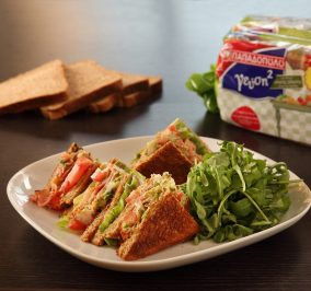 image for Club Sandwich με Ψωμί για Τοστ Γεύση2 Παπαδοπούλου Ολικής Άλεσης