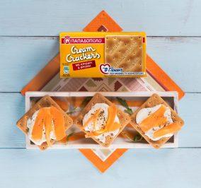 Banner for Υγιεινό γεύμα με Cream Crackers με κριθάρι, βρώμη & Β'–γλυκάνη, κατίκι και καρότο