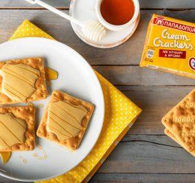 Banner for Γλυκό σνακ με Cream Crackers με β-γλυκάνη και ταχίνι