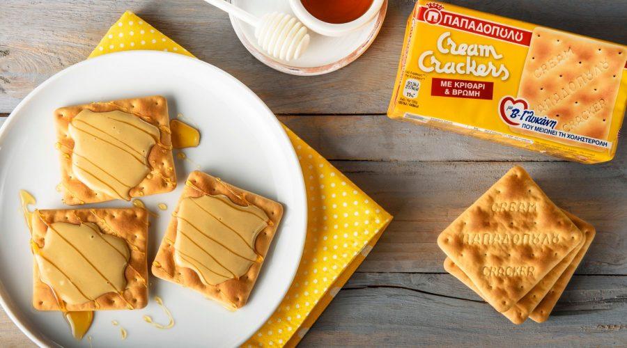 Top slider image for Γλυκό σνακ με Cream Crackers με β-γλυκάνη και ταχίνι