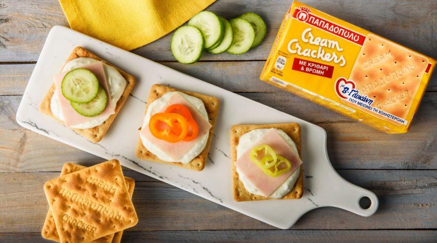 Top slider image for Cream Crackers με β-γλυκάνη, κατίκι Δομοκού, γαλοπούλα & λαχανικά