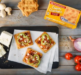 image for Πιτσάκια με λαχανικά και Cream Crackers με β-γλυκάνη