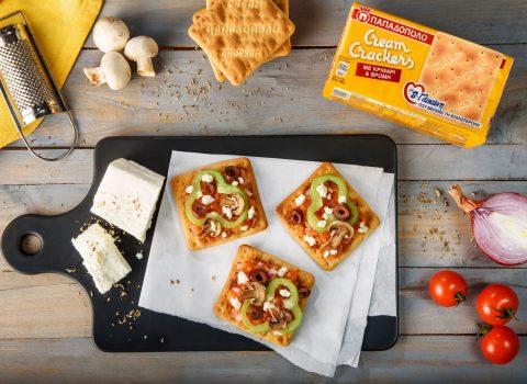 Featured image for Πιτσάκια με λαχανικά και Cream Crackers με β-γλυκάνη