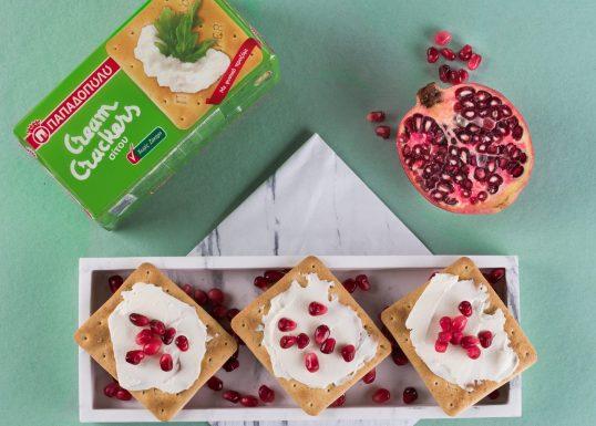 image for Γρήγορο πρωινό με Cream Crackers Χωρίς Ζάχαρη και ρόδι