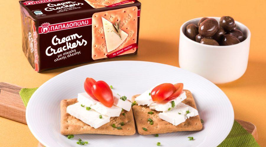 Top slider image for Γρήγορο, μεσογειακό γεύμα με Cream Crackers με Σίκαλη Ολικής Άλεσης