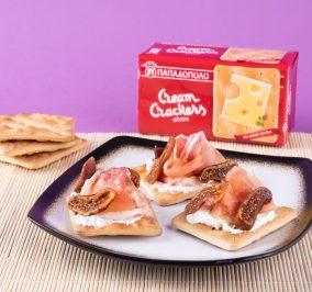 image for Cream Crackers Παπαδοπούλου με προσούτο, κατίκι και σύκο