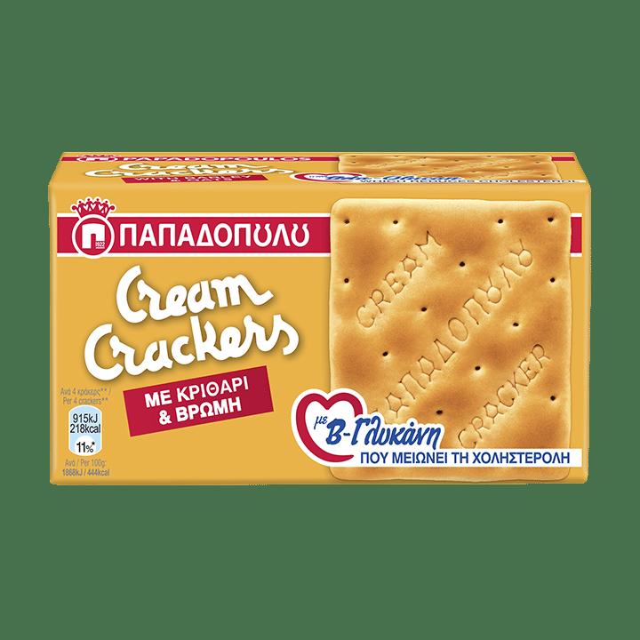 Product Image of Cream Crackers με κριθάρι, βρώμη και β-γλυκάνη
