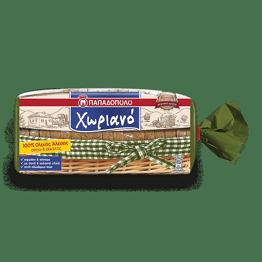 Product Image of Χωριανό 100% με αλεύρι Ολικής άλεσης Σίτου και Σίκαλης