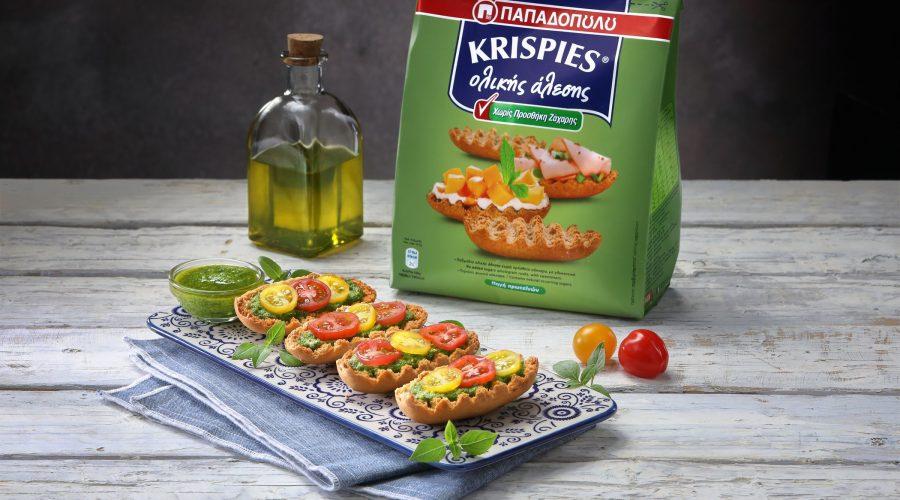 Top slider image for KRISPIES Παπαδοπούλου ολικής άλεσης με πέστο και ντοματίνια