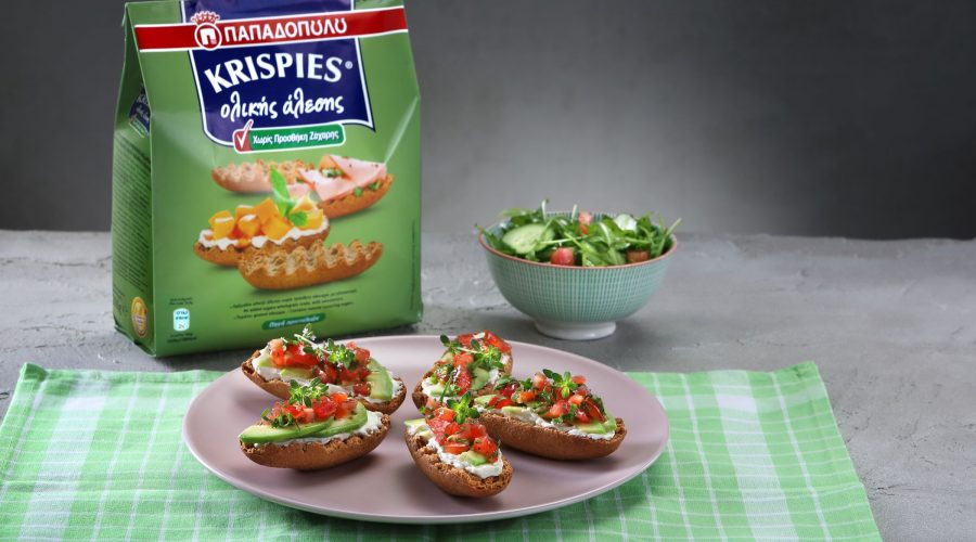 Top slider image for KRISPIES Παπαδοπούλου ολικής άλεσης με τυρί κρέμα και αβοκάντο