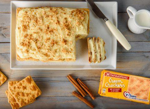 Featured image for Μιλφέιγ με Cream Crackers Παπαδοπούλου με β-γλυκάνη