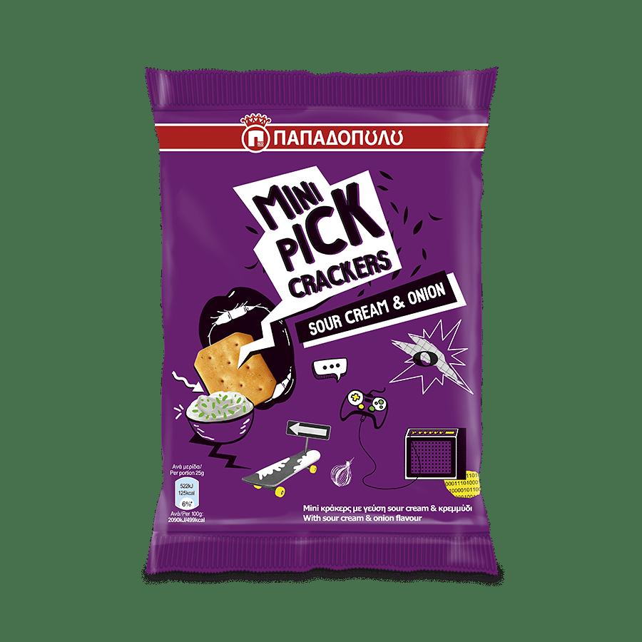 Product Image of Mini Pick Crackers sour cream & onion