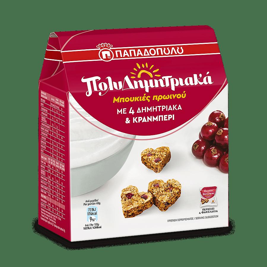 Product Image of ΠολυΔημητριακά Μπουκιές Πρωινού με κράνμπερι