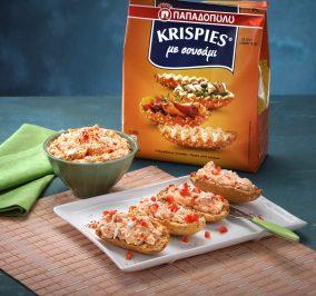 image for Ντιπ πικάντικης φέτας σε KRISPIES Παπαδοπούλου με σουσάμι