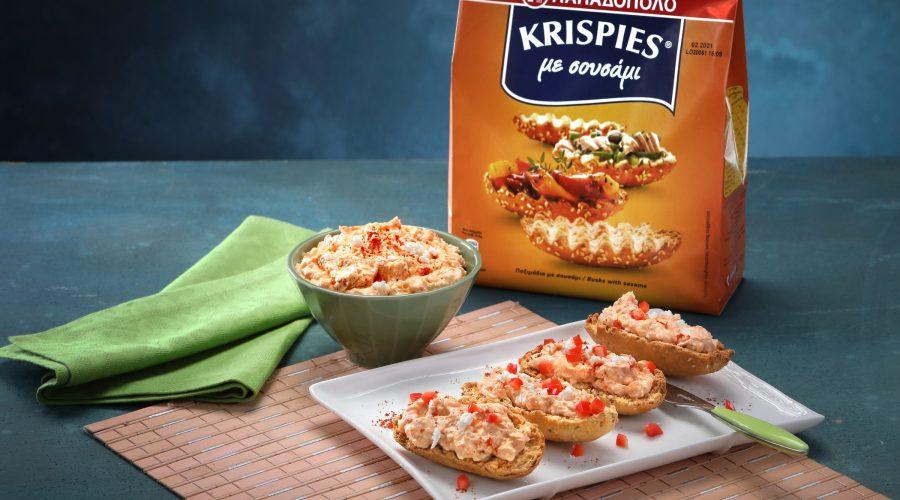 Top slider image for Ντιπ πικάντικης φέτας σε KRISPIES Παπαδοπούλου με σουσάμι