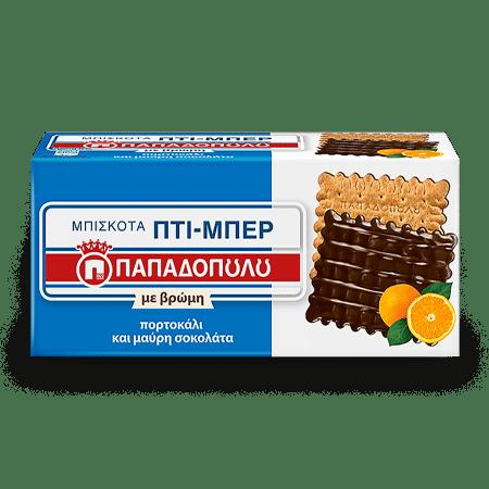 Product Image of Πτι-Μπερ με βρώμη & πορτοκάλι, με επικάλυψη μαύρης σοκολάτας