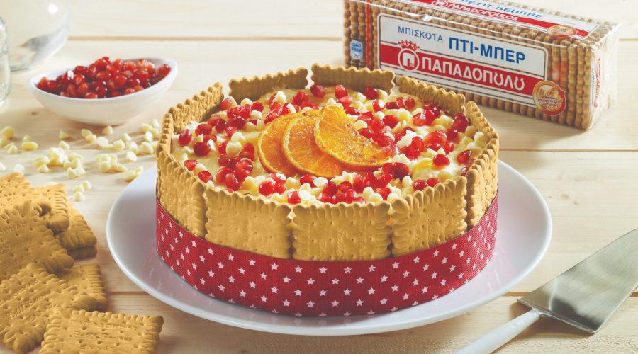 Top slider image for Σαρλότ λευκής σοκολάτας με πορτοκάλι και Πτι Μπερ Παπαδοπούλου