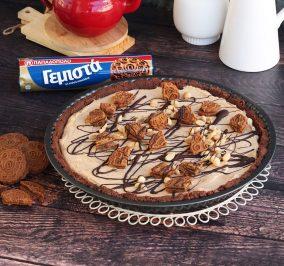 image for Τάρτα με βάση από Γεμιστά Παπαδοπούλου με σοκολάτα και κρέμα φιστικοβούτυρο