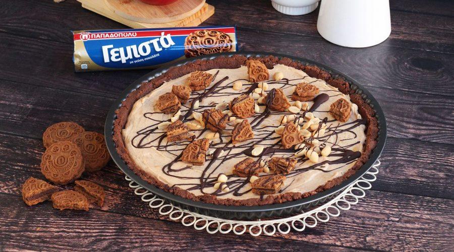 Top slider image for Τάρτα με βάση από Γεμιστά Παπαδοπούλου με σοκολάτα και κρέμα φιστικοβούτυρο
