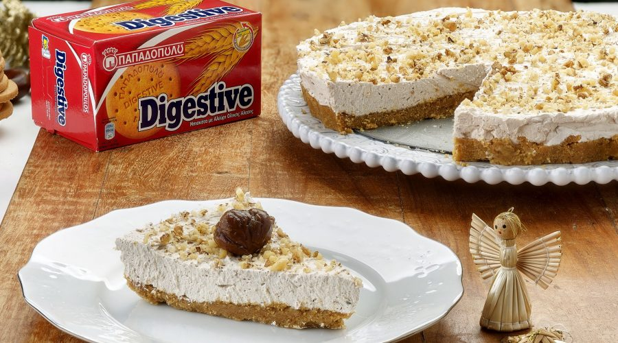 Top slider image for Τάρτα με κάστανα και μπισκότα Digestive Παπαδοπούλου