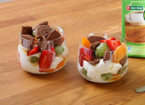 Featured image for Ελαφρύ Trifle με ΠολυΔημητριακά Παπαδοπούλου με κακάο χωρίς ζάχαρη