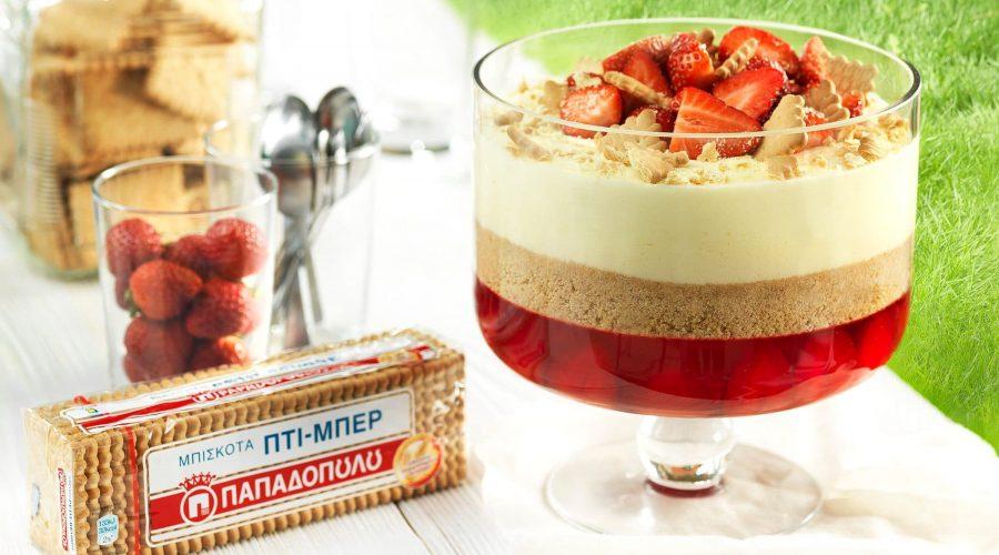 Top slider image for Trifle με ζελέ φράουλας και Πτι Μπερ Παπαδοπούλου