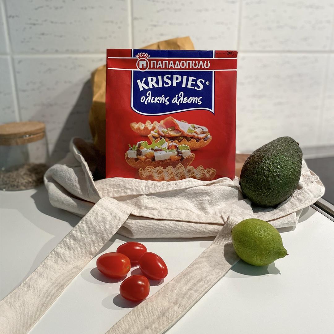 Image for KRISPIES Παπαδοπούλου ολικής άλεσης με γουακαμόλε: σνακ στη στιγμή!