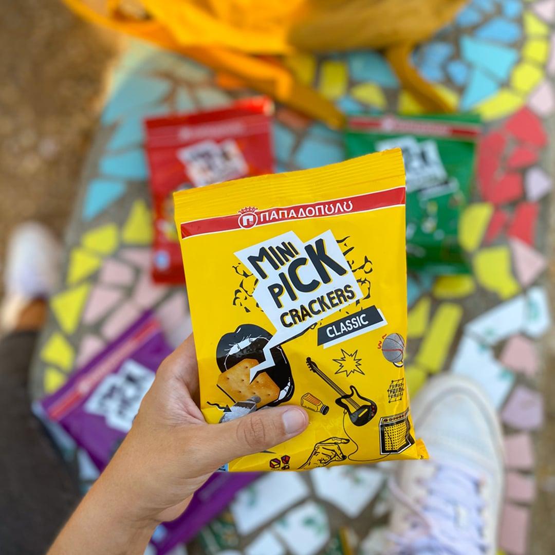 image for Mini PICK Crackers, αλμυρό σνακ μαζί όπου κι εσύ!
